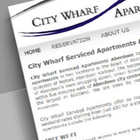 City Wharf Aberdeen website design screenshot