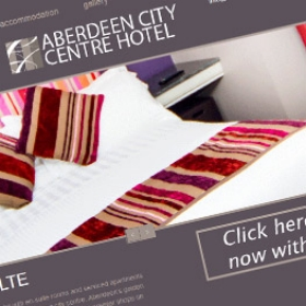 Aberdeen City Centre Hotel ACCH website design screenshot
