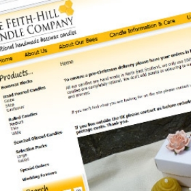 Feithill Candle Company website design screenshot