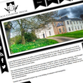 Logie Country House website design screenshot