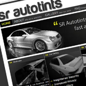 SR Autotints website design screenshot